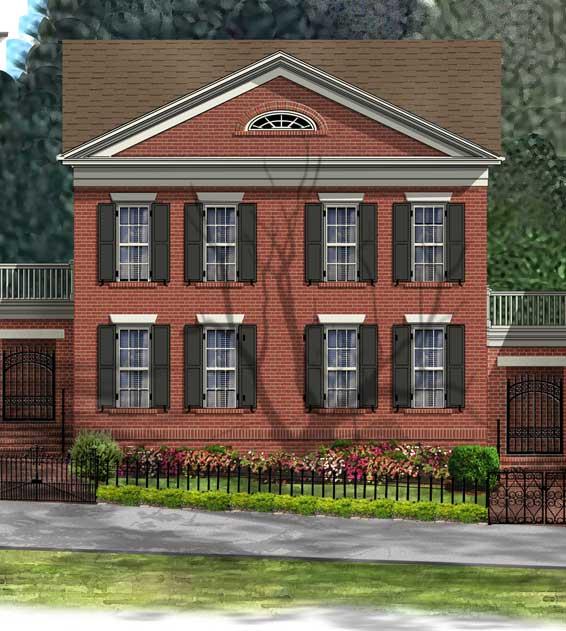Jamestown courtyard home