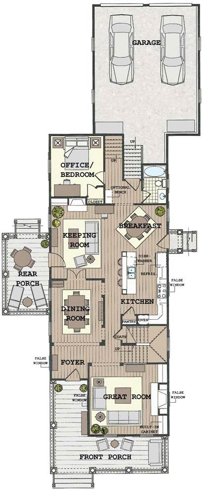 Bsa home plans cruse cottage historic for Sa house plans