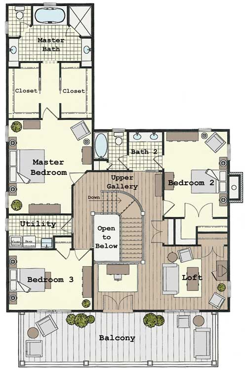 Colonial House Plans | Colonial Home Plans, Colonial Home Designs