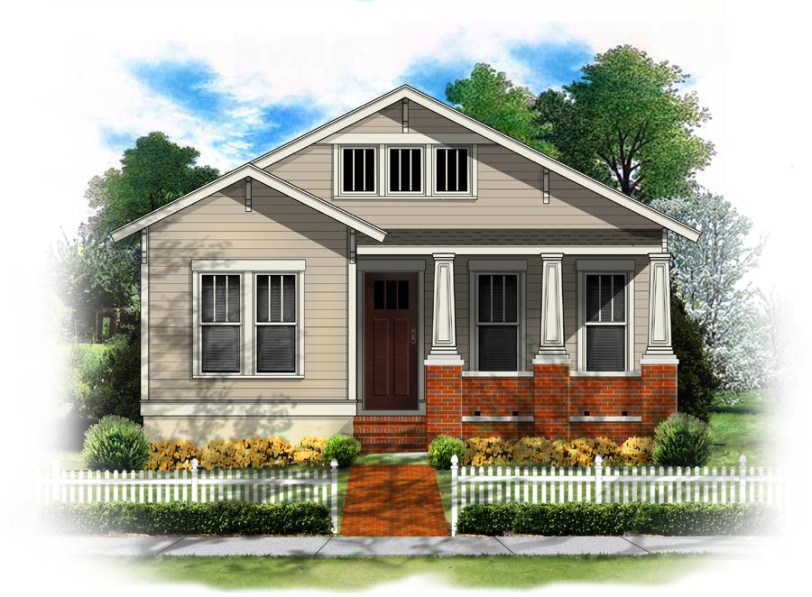 BSA Home Plans Chapman Bungalow Classical Vernacular