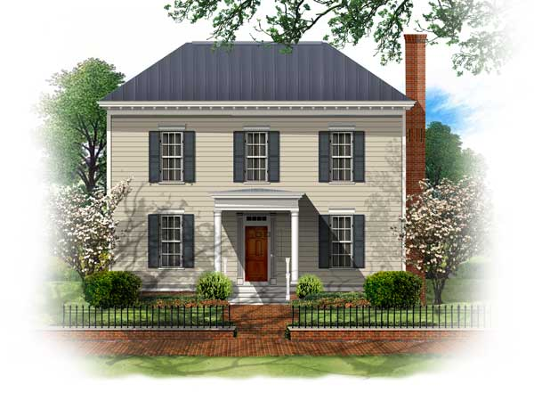 Bsa home plans simplicity collection for Georgian farmhouse plans