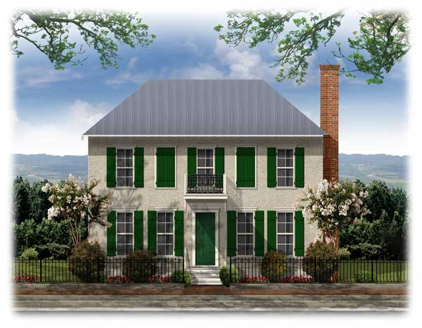 Bsa Home Plans Westover French Colonial Historic