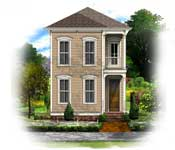 New urban classics house plans at bsa for Italianate victorian house plans